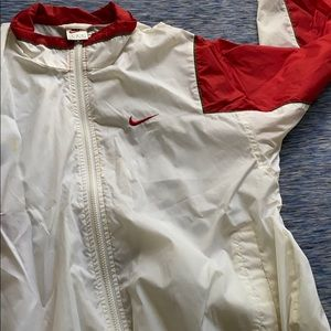 Vintage windbreaker red white and Nike